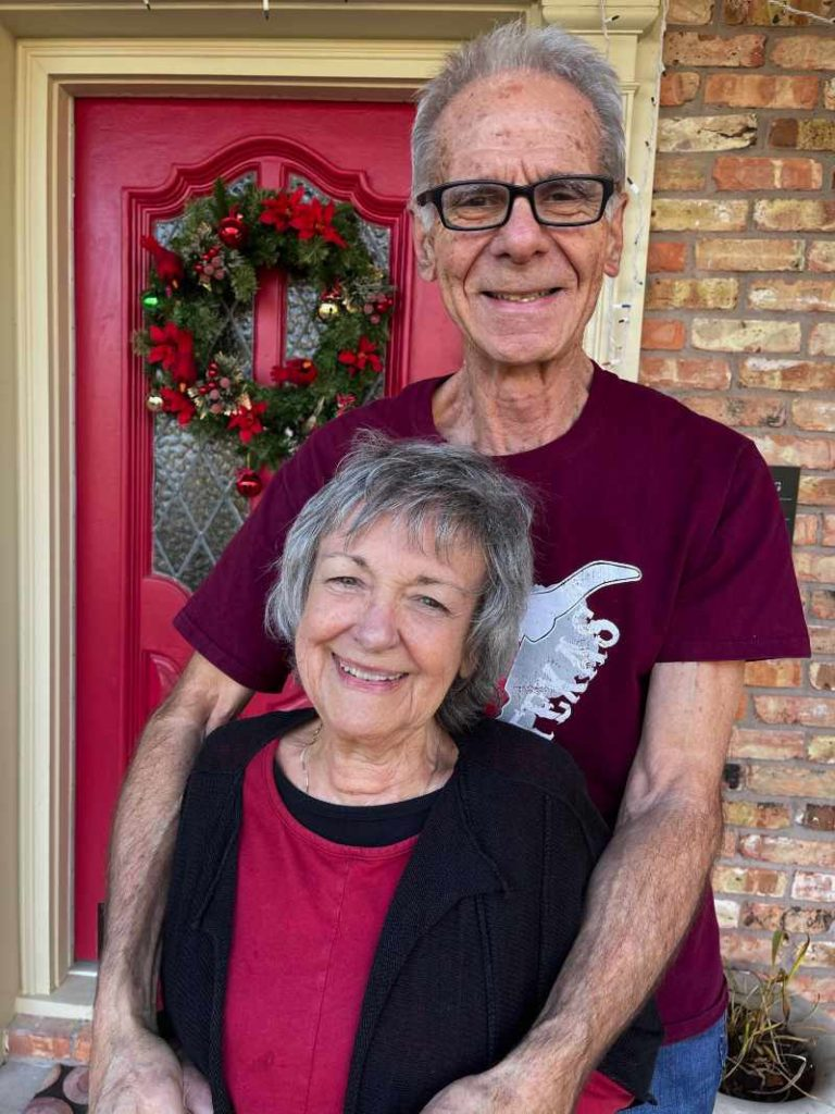 Patti Medaris Culea and husband John in Lufkin, Texas.