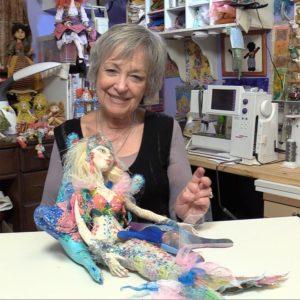 Image of Patti Medaris Culea and Oceane Cloth Doll Mermaid Pattern and Doll
